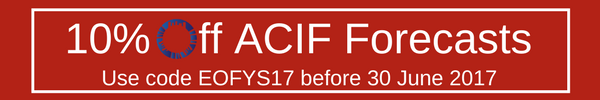 10% Off ACIF Forecasts before 30 June 2017